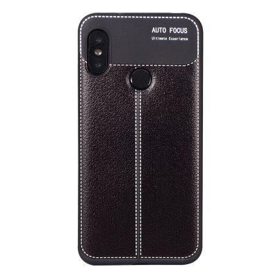 Luxury Litchi Grain Anti-Drop Soft TPU Case for Xiaomi Mi A2 Lite