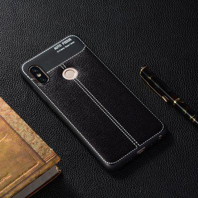 Luxury Litchi Grain Anti-Drop Soft TPU Case for Xiaomi Redmi Note 5