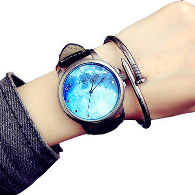 Vintage Casual New Design Creative Leather Analog Chronograph Sport Watch