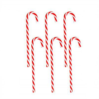 6PCS Candy Cane Hanging Christmas Ornament