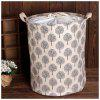 Large Bucket Drawstring Beam Port Dirty Clothes Laundry Basket Foldable - LIGHT GRAY