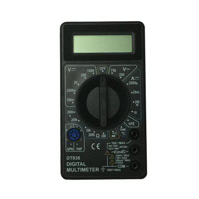 Ismartdigi DT838 1000V Black LCD Handheld Digital Multimeter Using for Home Car