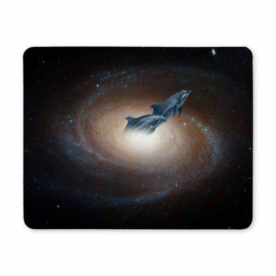 Non Slip Rubber Gaming Black Hole Dolphins Mousepad