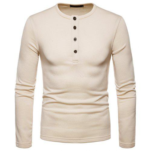 b1fe5320f29 Men s Fashion Casual Warm Slim Long-Sleeved T-Shirt