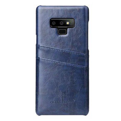 Genuine Real Leather Retro Vintage Wallet Back Cover for Samsung Note 9 Case