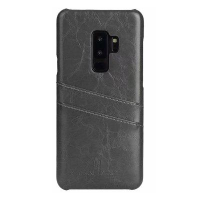 Genuine Real Leather din piele Retro Vintage Back Cover pentru Samsung S9 Plus