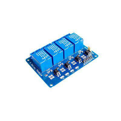 4-Channel 5V Opto-isolator Relay Module w/ High Level Trigger