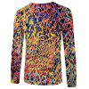 Men's Fashion New 3D Personality Leopard Print Long-Sleeved T-shirt - MULTI-A