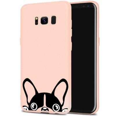 Cartoon Pet Dog Candy Color Soft Mobile Phone Case for Samsung Galaxy S8