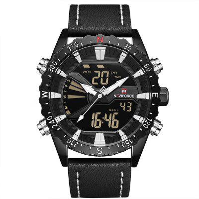 NAVIFORCE Top Brand Movement Led Double Display Electronic Watch