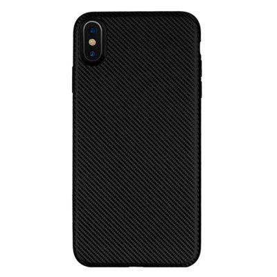 Carbon Fiber Pattern Soft Case Cover for iPhone XS Max