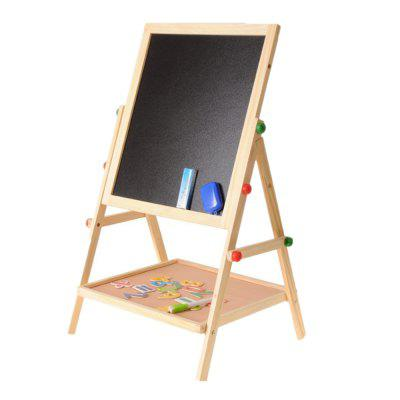 Solid Wood Double-Sided Magnetic Children'S Drawing Board Easel