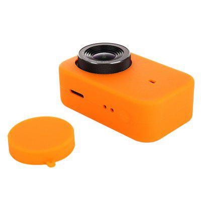 Silicone Rubber Skin Case Sleeve + Lens Cover for Xiaomi Mijia 4K Camera