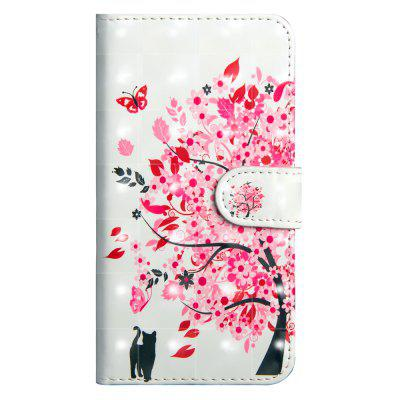 3D Fashion Color Painting para LG Q7 Case 2018 Flip Wallet Cover