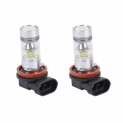 2 x High Power H8 H11 CREE LED Fog Driving Light 3030 SMD 100W Lamp Bulb White