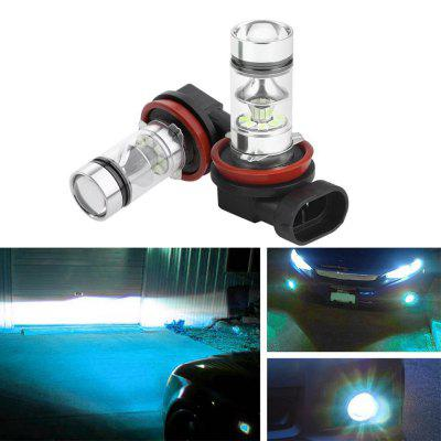 2 x New H8 H11 CREE LED Fog Driving Light 3030 SMD 100W Lamp Bulb Ice Blue