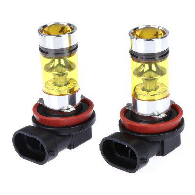2Pcs H8 H11 CREE LED Fog Driving Light 3030 SMD 100W Lamp Bulb Yellow