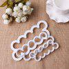 Rose Flower Cake Mould Fondant Décorer 3D DIY Cutter Cutter - BLANC