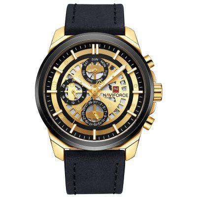 NAVIFORCE Fashion Luxury Brand Mens Quartz 24 Hour Date Watches