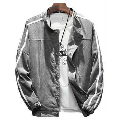 Men's Stand Collar Solid Color Jacket