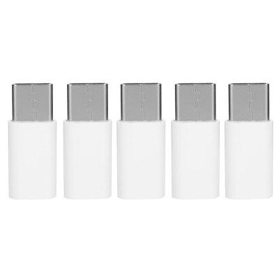 Minismile 5PCS USB 3.1 Type-C Male to Micro USB Female Data Charging Adapter
