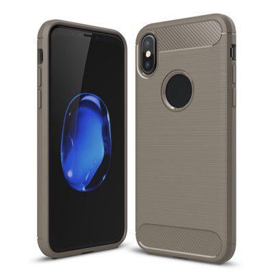 Shockproof Back Cover Carbon Fiber Case for iPhone XS