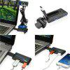 Hot Portable High Speed 4 Ports USB 3.0/2.0 External Hub Adapter for PC Lap D4R5 - BLACK