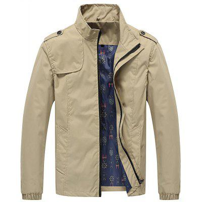 Men Casual  Loose Breathable Long Sleeve Plus Size Jacket