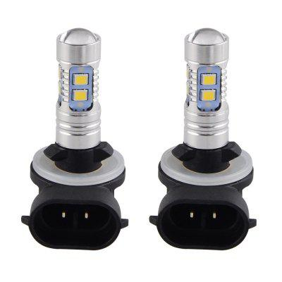 White 881 2323 10LED 50W Per LED Fog Bulbs Daytime Running Front Turn Lights