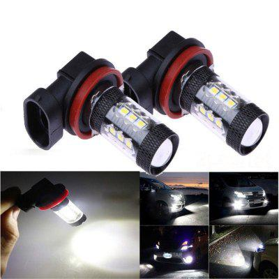 H8 H11 LED Fog Driving Lights 16 LEDs 3030 SMD 80W Lamp Bulb White 12-24V
