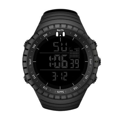 Seasonal Silicon Gel Strap Casual Sports Men Electronic Watch