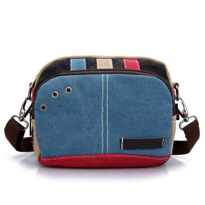 Women Fashion Mini Colorful Canvas Crossbody Bag