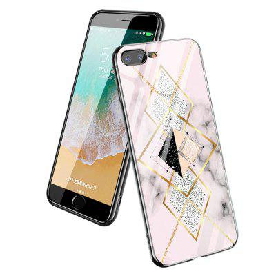 Geometric Polychrome Graphics Spliced Glass Hard Case for iPhone7 Plus / 8 Plus