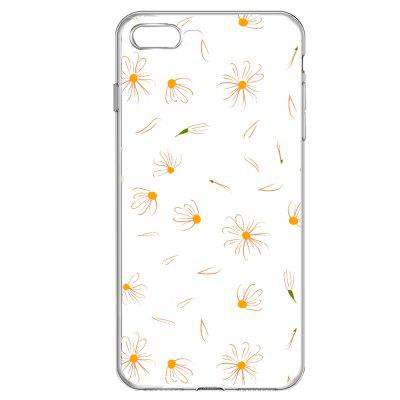 Small Daisy Petals Transparent Soft Protective Case for iPhone 7Plus