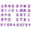 Alphabet Number Letter DIY Character Fondant Cake Decorating Set - PURPLE