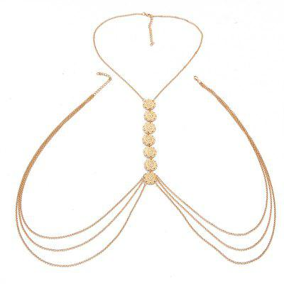 Creative Vintage Fashion Minimalist Glyph Flower Body Chain