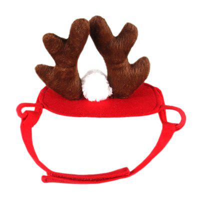 Antler Christmas Dog Hat Cute Pet Cat Jewelry