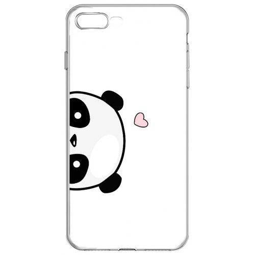 buy popular 5ae32 fad68 Cute Panda Clear Protective Soft Phone Case for iPhone 7 Plus
