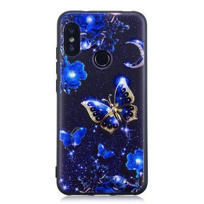 Butterfly Pattern TPU Relief Case for Xiaomi Mi A2 Lite