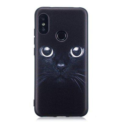 Black Cat Pattern TPU Relief Case for Xiaomi Mi A2 Lite