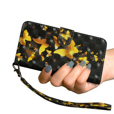 Fashion 3D Color Painting for Huawei Y6 Pro 2017 Case Flip Wallet Cover