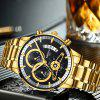 NIBOSI Men's Luxury Fashion Casual Dress Chronograph Water Resistant watches - GOLD