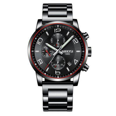 NIBOSI Men Leisure Fashion Date Chronograph Quartz Watch