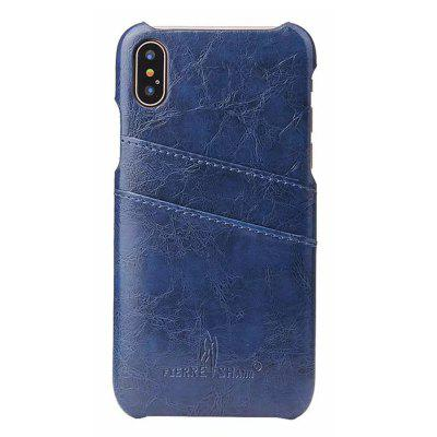 Cover posteriore in vera pelle per iPhone X Case