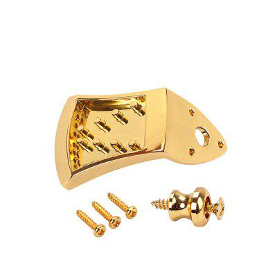 Gold 8 Strings Mandolin Tailpiece and Strap Buckle