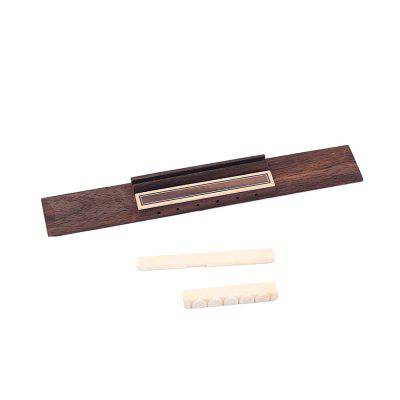 Rosewood Wood Classical Guitar Bridge 6 String Bone Saddle Nut