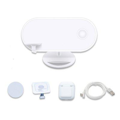 Wireless Charger 3 in 1 Charging Pad Stand For Apple Airpods / iPhone /  Samsung