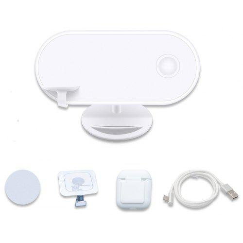 wireless charger 3 in 1 charging pad stand for apple airpods rh gearbest com