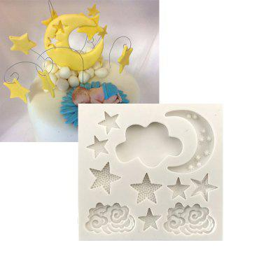 Star Moon Cloud Fondant Chocolate Silicone Mould  Cake Decorating Baking Tool