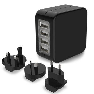 4 Port Universal World Wall Travel Charger Adapter